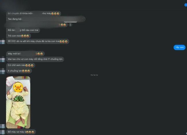 Nhâm Hoàng Khang hé lộ tin nhắn cho biết anh đang bị không ít cư dân mạng tấn công