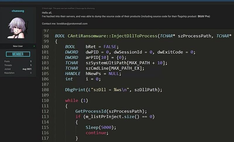 Một đoàn code được rao bán trên diễn đàn R*forum (Ảnh: VnEconomy)