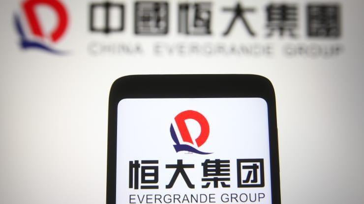 cổ phiếu Evergrande có thời điểm sụt hơn 10%
