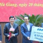 Tập đoàn FLC tặng 6 tỷ đồng tiền mặt để xây nhà cho người nghèo tỉnh Hà Giang