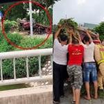 Hiện trường vụ tai nạn kinh hoàng do va chạm với xe ben ở Bắc Ninh, nghi có 1 Youtuber tử vong