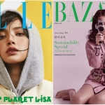 So kè nhan sắc của cặp đôi nhà 'Hắc Hường' trên bìa tạp chí Elle và Harper's Bazaar Hàn Quốc tháng 4